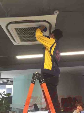 风盘面板清洗